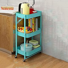 Kitchen Shelf Can Move Home Floor-Standing Small