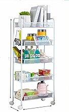Kitchen Shelf, Mobile Trolley, Three Layers,