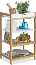 Kitchen Shelf with Removable Tray, Bamboo,