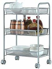 Kitchen Shelves, 3-layer mesh wire metal