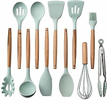 Kitchen Silicone Cooking Set with Wood Handle