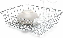 Kitchen Sink Basket - Dish Drainer Rack - Chrome