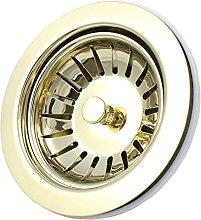 Kitchen Sink Basket Strainer Waste including Plug