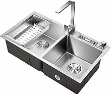 Kitchen Sink. double bowl household Square