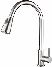 Kitchen Sink Taps Silver Pull Out Faucets with