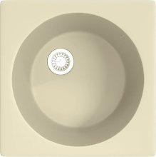 Kitchen Sink with Overflow Hole Beige Granite -