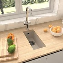 Kitchen Sink with Overflow Hole Beige Granite