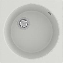 Kitchen Sink with Overflow Hole White Granite
