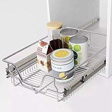 Kitchen Sliding Basket, 2Pcs Pull-Out Wire Basket