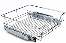 Kitchen Sliding Cabinet Organizer,Pull Out Chrome