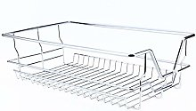 Kitchen Sliding Cabinet, Pull Out Chrome Wire