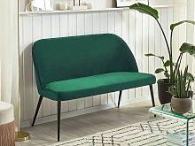 Kitchen Sofa Green Velvet Fabric Upholstery
