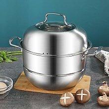 Kitchen Stainless Steel 2/3 Tier Food Steamer