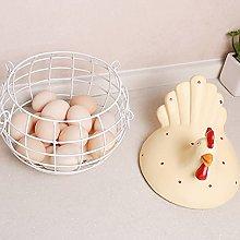 Kitchen Storage Basket Wrought Iron Egg Basket,