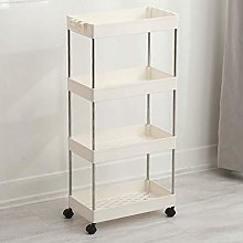 Kitchen Storage Cart with Baskets and Wheels Fruit