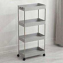 Kitchen Storage Cart with Storage Baskets and