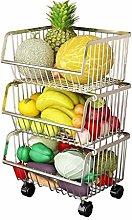Kitchen Storage Rack Floor Multi-layer Fruit And