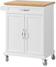 Kitchen Storage Trolley Cart with Bamboo