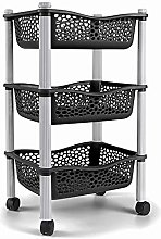 Kitchen Storage Trolley cart with Storage Baskets