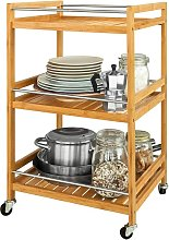 Kitchen Storage Trolley, Tea Serving Cart,
