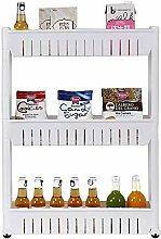 Kitchen Storage Trolleys, 3 Tier Slim Slide Out