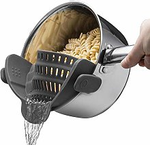 Kitchen Strain Strainer Clip On Silicone Colander