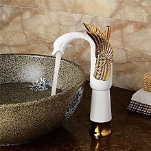 Kitchentap Luxury Swan Shape Brass Basin Sink