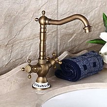 Kitchentap Retro Bathroom Basin Antique Brass