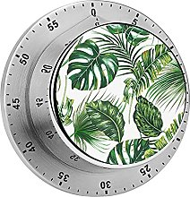 Kitchen timer, Tropical Palm Leaves, Monstera,