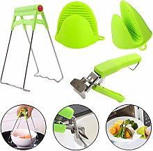 Kitchen Tongs Anti-Hot Bowl Clip Dish Gripper Clip
