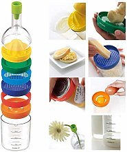 Kitchen Tool Bottle 8 in 1, Funnel, Lemon
