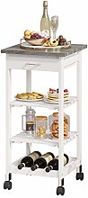 Kitchen Trolley, 3 Tiers Storage Cart with