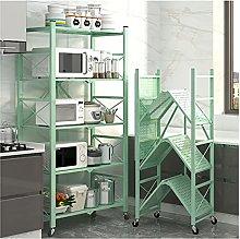 Kitchen Trolley 5-Tier Storage Shelf With Wheels,