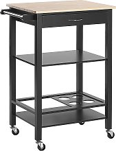 Kitchen Trolley Black AFRAGOLA