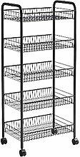 Kitchen trolley Multi-layer shelf Mobile serving