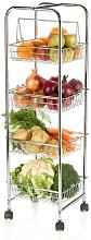 Kitchen Trolley on Wheels for Food Storage with 4