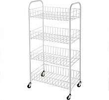 Kitchen Trolley on Wheels with 2/3/4 Vegetable