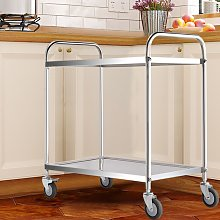Kitchen Trolley Serving Cart Stainless Steel Hotel