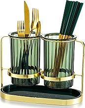 Kitchen Utensil Holder for Countertop 2 Green Cups