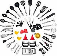 Kitchen Utensil Set - 50-Piece Cooking Utensils -
