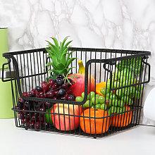 Kitchen Vegetable Fruit Storage Rack Wire Basket
