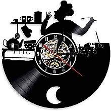 Kitchen Vinyl Record Wall Clock Modern Design