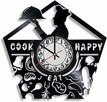 Kitchen Vinyl Wall Clock Vinyl Record Clock