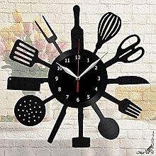 Kitchen Vinyl Wall Clock Vinyl Wall Clock Unique