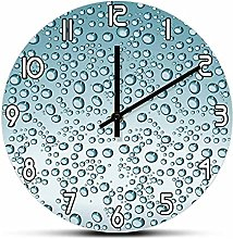 Kitchen wall art Blue Color Water Drops Printed