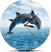 Kitchen wall art Two Jumping Dolphins Seascape