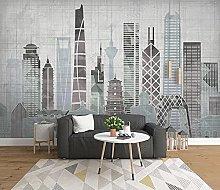 Kitchen Wallpaper City Building TV Sofa 3D Mural