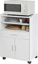 Kitchen Wheeled Microwave Shelf,Storage Cupboard