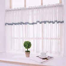 Kitchen Window Curtain White Voile Lace Net
