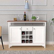 Kitchen Wine Cabinet Storage Cupboard with Wood